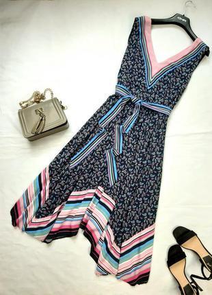Элегантное брендовое  платье миди, вискоза, 44, xl-2xl
