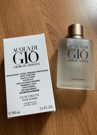 Giorgio armani acqua di gio pour homme tester 100 ml.