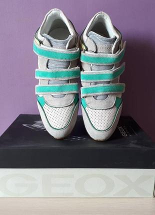 Новые кроссовки geox сникерсы на липучках яркие замша оригинал джеокс геокс3 фото