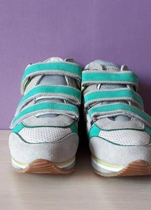 Новые кроссовки geox сникерсы на липучках яркие замша оригинал джеокс геокс4 фото