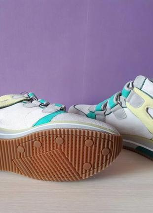 Новые кроссовки geox сникерсы на липучках яркие замша оригинал джеокс геокс6 фото