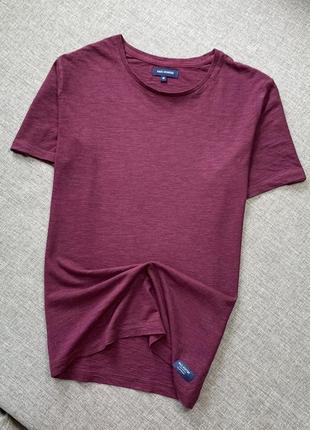 Бордовая футболка хлопок