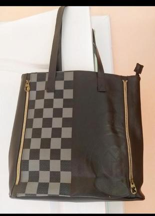 Стильная деловая женская сумка с короткими ручками для документов