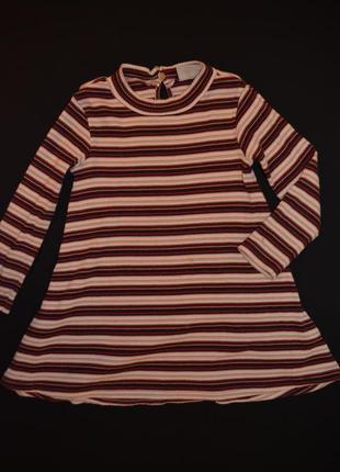 Детское трикотажное платье от next на 2-3 годика