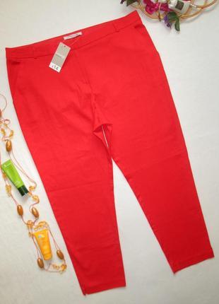 Мега классные стильные летние стрейчевые красные брюки george 🍒👖🍒