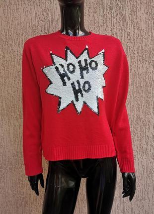 Светр новорічний свитер новогодний h&m