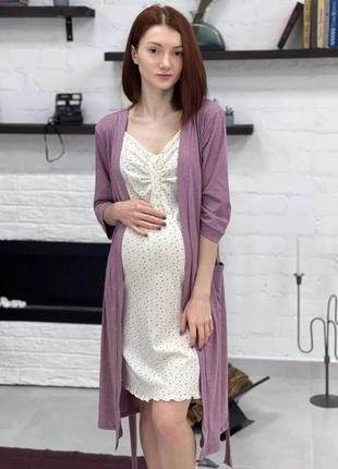 Комплект, халат и сорочка 3080