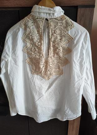 Тонкая хлопковая блуза1 фото