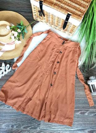 🤩распродажа! шикарная бежевая юбка миди на пуговицах в стиле винтаж 1030