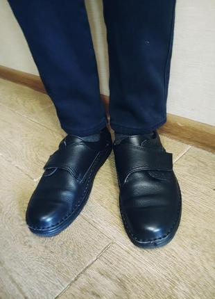 Шикарные кожанные туфли 42-43 р ст.28см