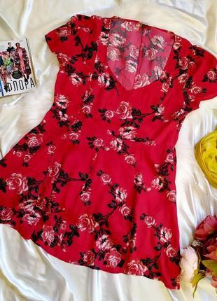 Красивое вискозное летнее платье с цветочным принтом размер xxl