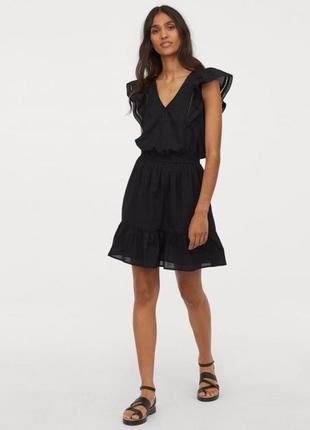 Новое хлопковое платье h&m. размер 38