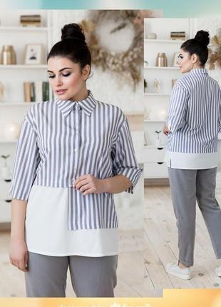 Рубашка блуза с асимметричным дизайном