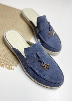 Туфлі мюлі замш туфли мюли замшивые