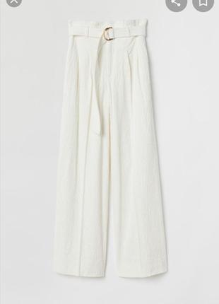 Широкие вельветовые брюки h&m
