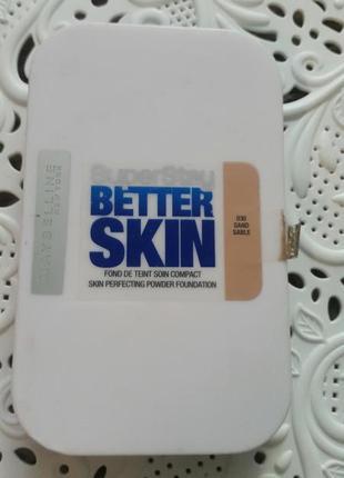 Стойкая пудра для лица super stay better skin maybelline