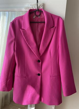 Пиджак розовый фуксия