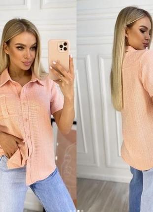 Рубашка женская лен