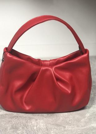 New❤женская стильная сумочка с короткой длинной ручкой красная белая беж