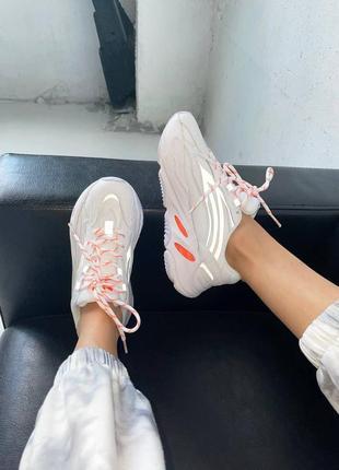 """Женские кроссовки демисезонные адидас изи 700 adidas yeezy boost 700 v2 """"white / orange"""""""