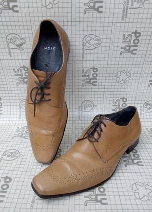 Mexx бежевые туфли броги кожа  vero cuoio р 44