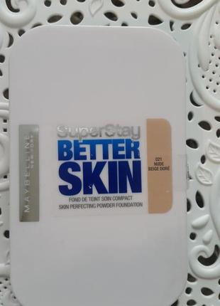 Стойкая пудра для лица super skin better skin maybelline