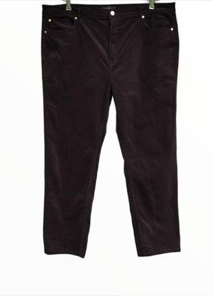 Классные вельветовые джинсы большого размера m&s