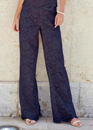 Шикарные нарядные  кружевные двойные брюки joanna hope на высокий рост