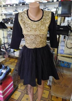 Платье нарядное с фатином