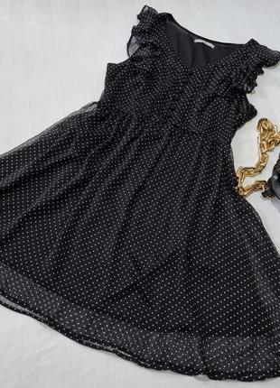 Платье в горошек шифоное