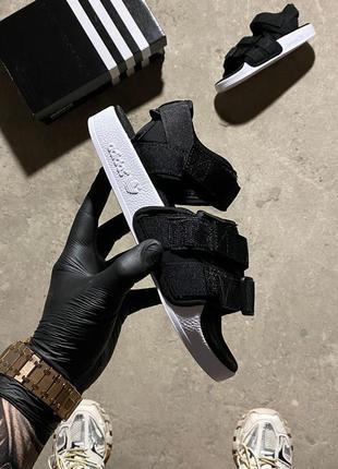 Женские босоножки adidas adelite black white.