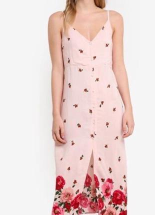 Летнее стильное платье в цветы вискоза