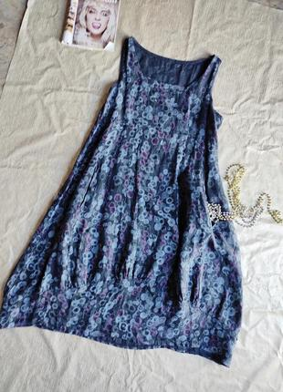 Платье в бохо стиле лен