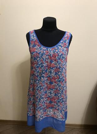 Платье  туника шёлковое