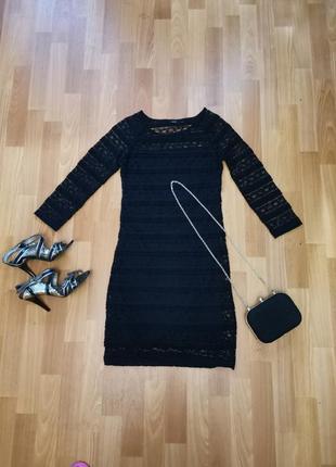 Кружевное платье, короткое, нарядное, вечернее