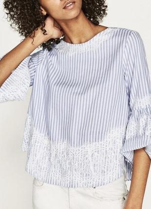 Летняя блуза с кружевом