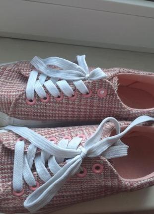 Розовые кеды, размер 36