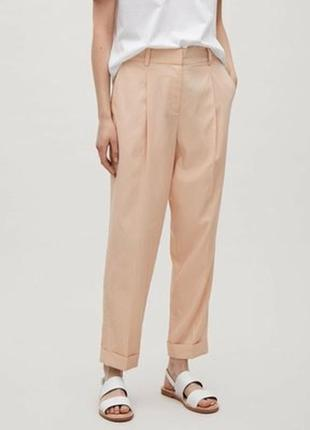 Пудро-розовые штаны брюки  большого размера cos 1+1=3