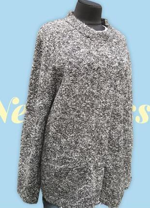 Новая шерстяная кофта на заклепках кардиган серый triangle by oliver