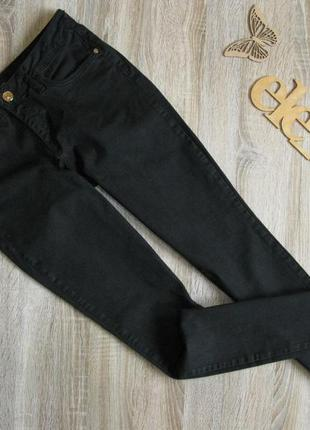 Черные зауженные джинсы river island eur 38