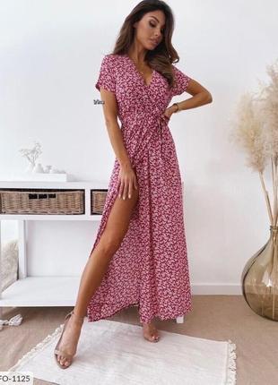 Платье с розрезом🔥🌸