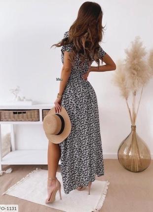 Платье с розрезом🔥🌸4 фото