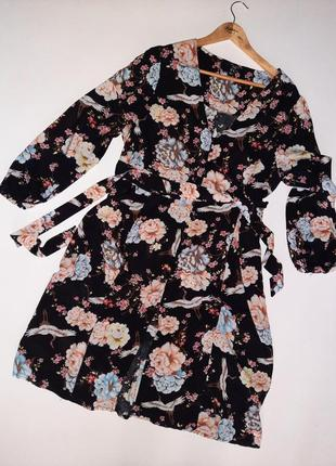 Натуральное миди платье/платье рубашка  батал  большой размер