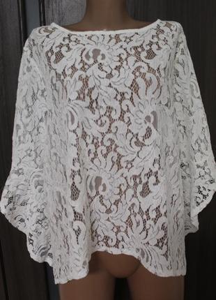 Кружевная блузка quiz в идеальном состоянии 2xl