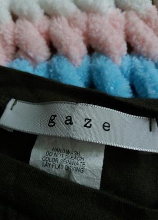 Кроп топ укорочена футболка хакі gaze4 фото