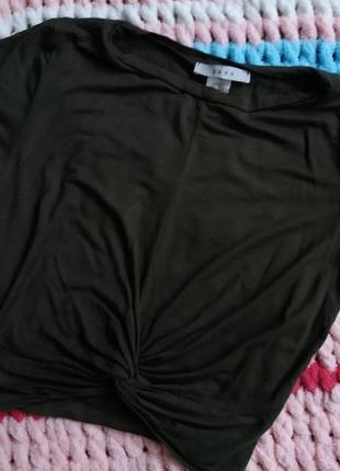 Кроп топ укорочена футболка хакі gaze