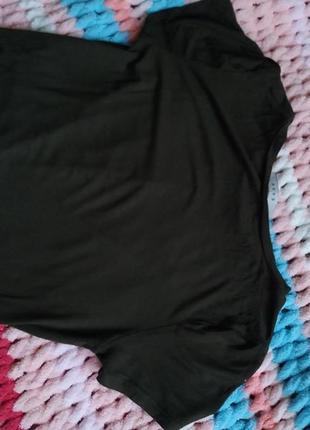 Кроп топ укорочена футболка хакі gaze5 фото