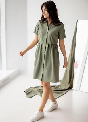 Легке лляне плаття-сорочка2 фото