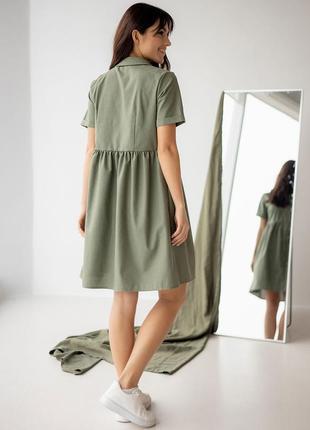 Легке лляне плаття-сорочка5 фото