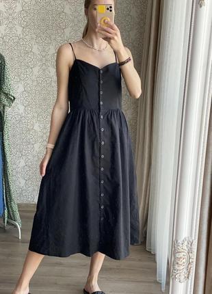 Льняное платье /сарафан размер m/l